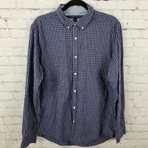 TOMMY HILFIGER   gingham button down shirt